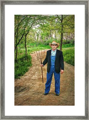 Metaphor - A Fork In The Road - 2 Framed Print by Nikolyn McDonald