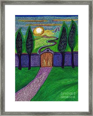 Metaphor Door By Jrr Framed Print