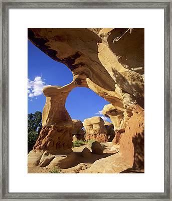 Metate Arch, Devil's Garden, Grand Framed Print by Howie Garber