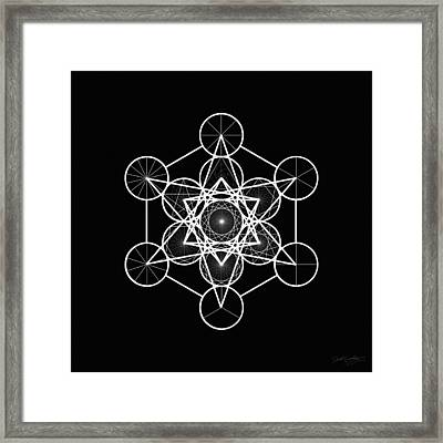 Metatron Wheel Cube Framed Print