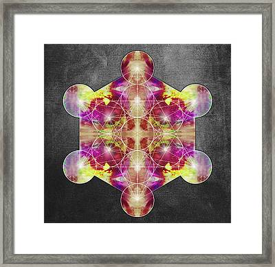 Metatron's Cube Red Framed Print by Filippo B