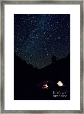 Meteor And Milky Way Framed Print