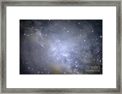 Meteor Lyrid Meteor Shower Framed Print