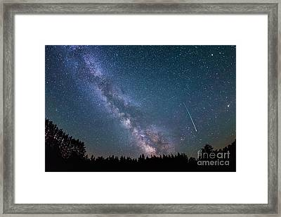Meteor Milky Way  Framed Print