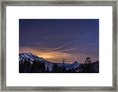 Night Skies Over Half Dome Framed Print