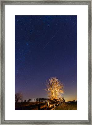 Meteor Shower Framed Print by Alexey Stiop