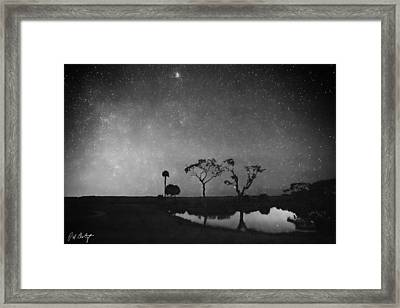 Meteor Shower In Black And White Framed Print by Phill Doherty
