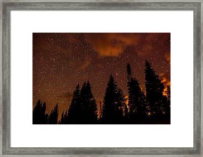 Meteor Shower Framed Print