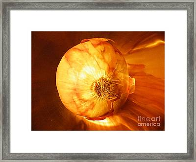 Meteoric Onion Framed Print by Brian Boyle