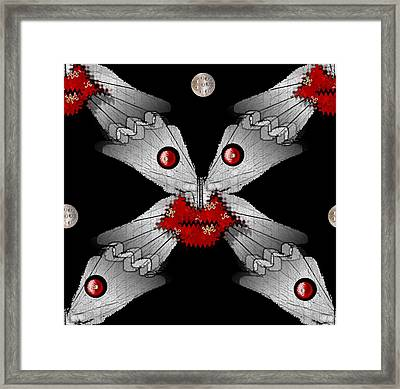 Meteoroid Creature  Coming From Comets And Androids In Universe Framed Print