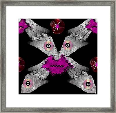 Meteoroid Creature  Coming From Comets And Androids Pop Art Framed Print
