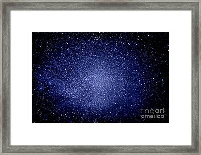 Meteors And  Milky Way Framed Print