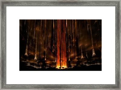 Meteors Framed Print