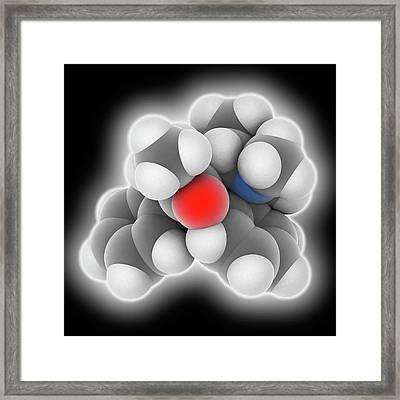 Methadone Drug Molecule Framed Print by Laguna Design