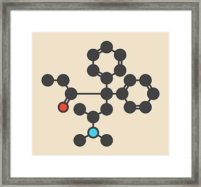 Methadone Opioid Dependency Drug Molecule Framed Print