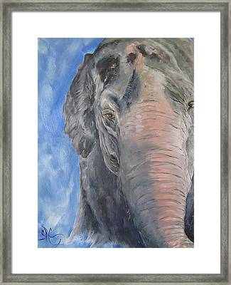 The Elder, Methai An Elephant Framed Print