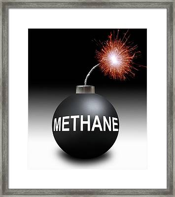 Methane Bomb Framed Print