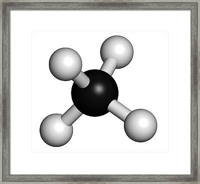 Methane Natural Gas Molecule Framed Print