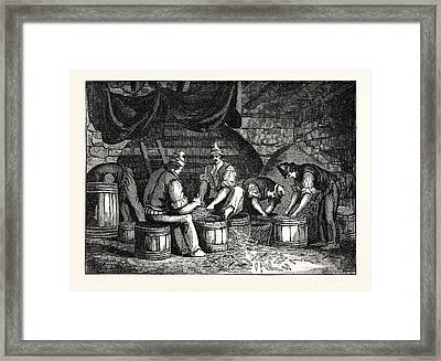 Method Of Curing Anchovies In Sicily Italy Framed Print