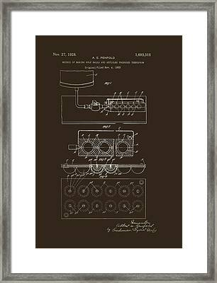 Method Of Making Golf Balls Patent 1928 Framed Print by Mountain Dreams
