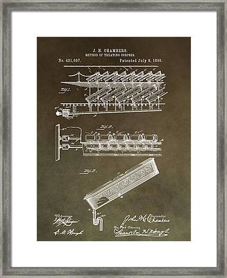 Method Of Treating Corpses Framed Print by Dan Sproul