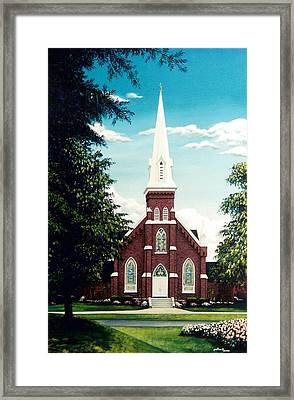Methodist Church Framed Print