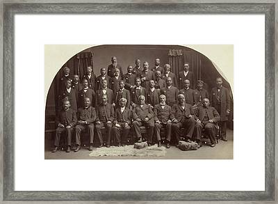 Methodist Conference, 1891 Framed Print by Granger