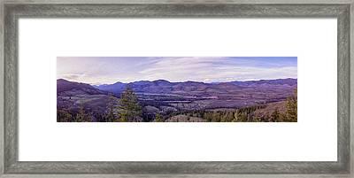 Methow River Valley Via Sun Mtn Lodge Framed Print by Omaste Witkowski