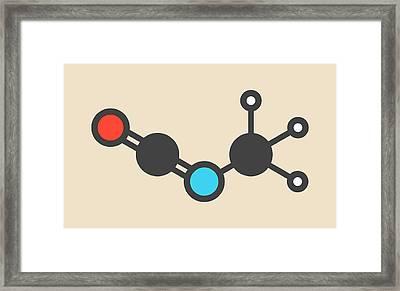 Methyl Isocyanate Toxic Molecule Framed Print by Molekuul