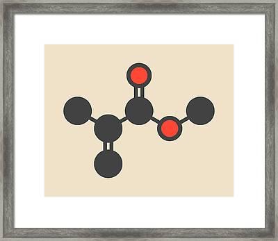 Methyl Methacrylate Molecule Framed Print