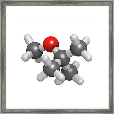 Methyl Tert-butyl Ether Molecule Framed Print by Molekuul