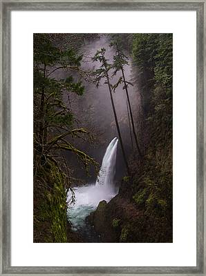 Metlako Falls Oregon Framed Print by Larry Marshall
