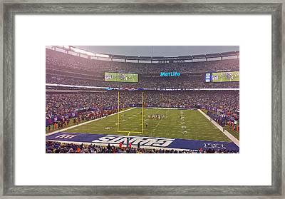Metlife Stadium And New York Giant Framed Print