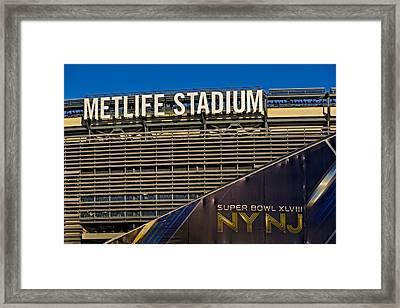 Metlife Stadium Super Bowl Xlviii Ny Nj Framed Print