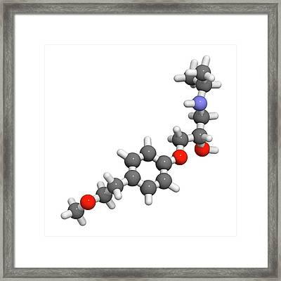 Metoprolol High Blood Pressure Drug Framed Print