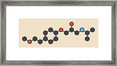 Metoprolol High Pressure Drug Molecule Framed Print