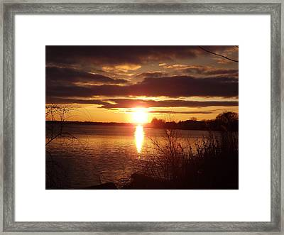 Framed Print featuring the photograph Metro Beach Sunset by Bill Woodstock
