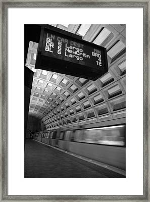 Metro Blur Framed Print by Bryan Knowles