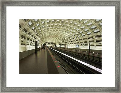 Metro Station In Suburban Washington, D Framed Print by Christopher Reed