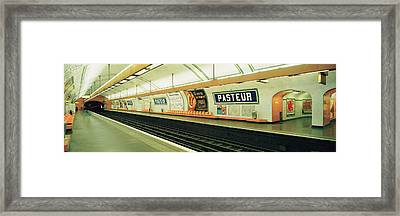 Metro Station, Paris, France Framed Print