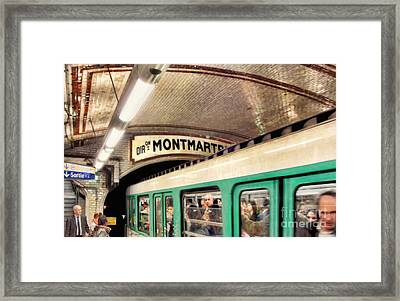 Framed Print featuring the photograph Metro To Montmartre. Paris   by Jennie Breeze