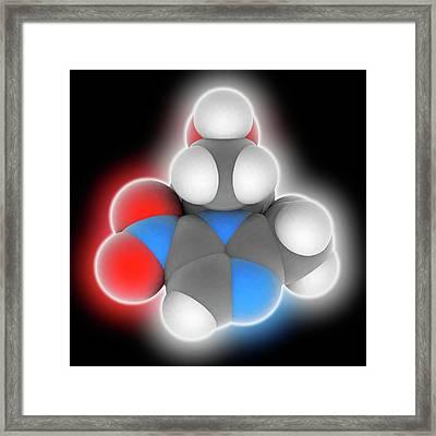 Metronidazole Drug Molecule Framed Print by Laguna Design