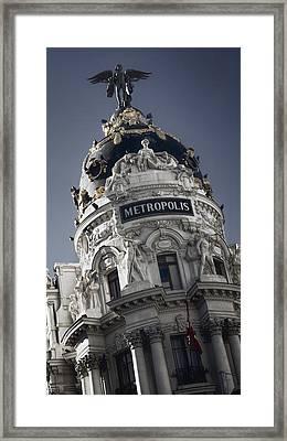 Metropolis Madrid Framed Print