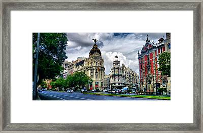 Metropolis Madrid Framed Print