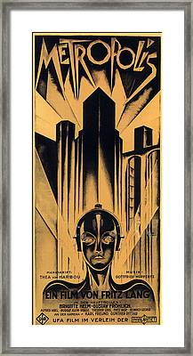 Metropolis Poster Framed Print by Gianfranco Weiss