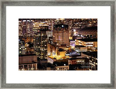 Framed Print featuring the photograph Metropolis Vancouver Mdccxv  by Amyn Nasser