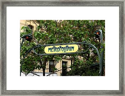 Metropolitain Framed Print by Carrie Warlaumont