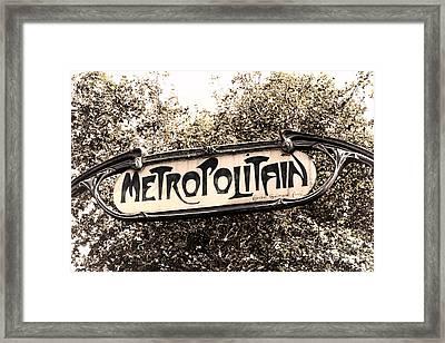 Metropolitain Framed Print by Olivier Le Queinec