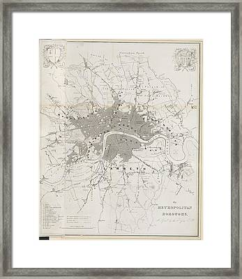 Metropolitan Boroughs Framed Print