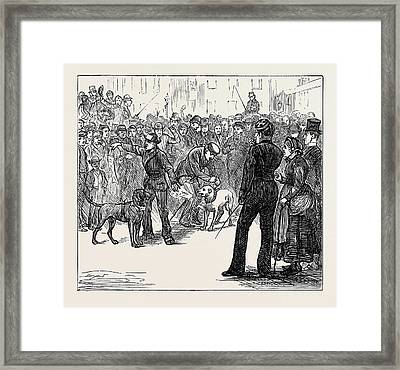 Metropolitan Boroughs Election Whig And Tory London 1874 Framed Print